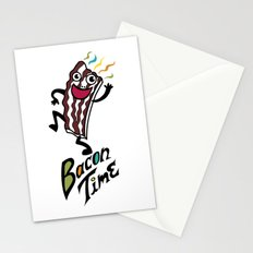Bacon Time Stationery Cards