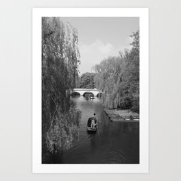 Punting on the Cam Art Print