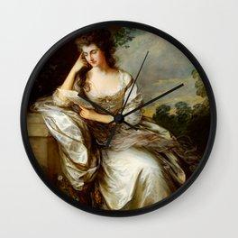 "Thomas Gainsborough ""Frances Browne, Mrs John Douglas at Waddesdon Manor"" Wall Clock"