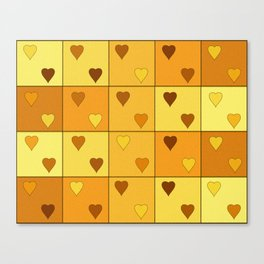 Little Hearts Canvas Print