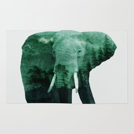 The elephant owns the forest Rug