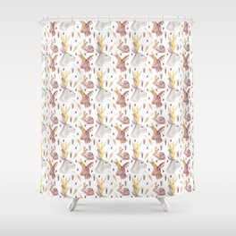 Mythical Rabbits Shower Curtain