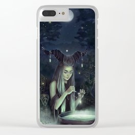 The Moon Witch Clear iPhone Case