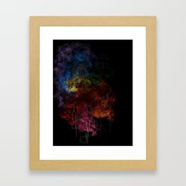 Rainbow Trees Framed Art Print