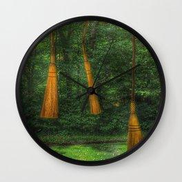 Handmade Brooms Wall Clock