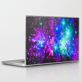 Fox Fur Nebula Galaxy Pink Purple Blue Laptop & iPad Skin