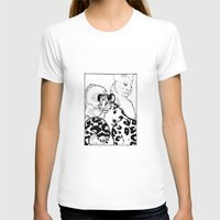 snow leopard T-shirts featuring Snow Leopard by GlassEyeSpy