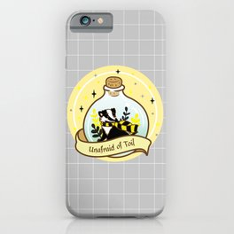 Yellow Badger In The Bottle iPhone Case