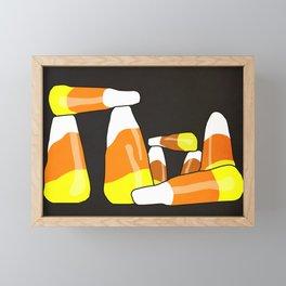 Candy Corn Henge Framed Mini Art Print