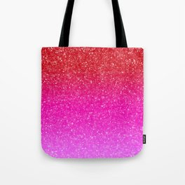 Red/Pink Glitter Gradient Tote Bag