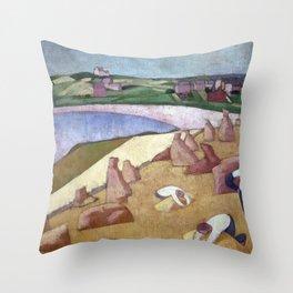 Emile Bernard Harvest by the Sea Throw Pillow