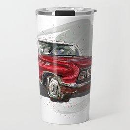 Red Old fashion Car Travel Mug