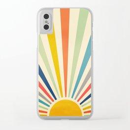 Sun Retro Art III Clear iPhone Case