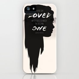 Paper Towns: Maybe she loved mysteries so much iPhone Case