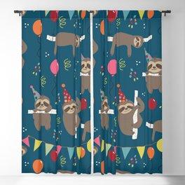 Birthday Sloths Blackout Curtain