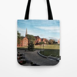 Overlooking Andrus Field Tote Bag