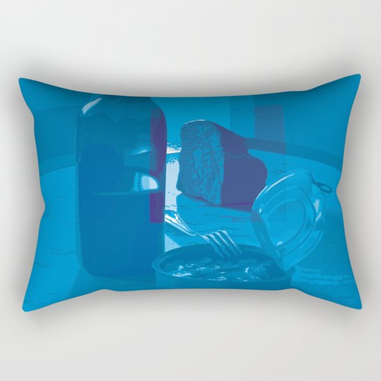 Monday Blues Rectangular Pillow