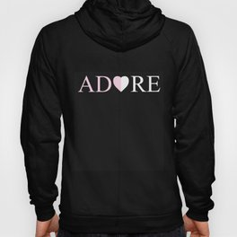 ADORE Amour Love Heart Design Hoody