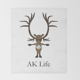 AK Life Caribou Throw Blanket