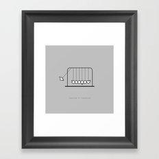impulse response Framed Art Print