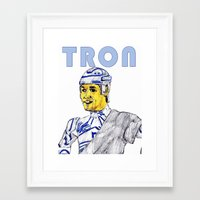 tron Framed Art Prints featuring Tron by AdrockHoward