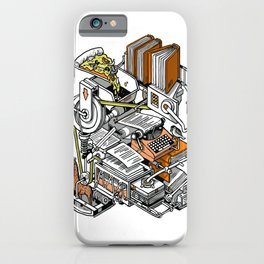 Book Writing Machine iPhone Case
