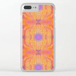 Tryptile 45c (Repeating 1) Clear iPhone Case