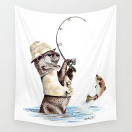 Natures Fisherman Wall Tapestry