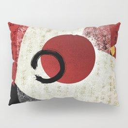 Zen Ensō Circle with Kanji Potential Pillow Sham