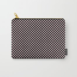 Black and Bridal Blush Polka Dots Carry-All Pouch