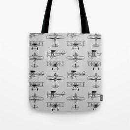 Biplanes // Silver Tote Bag