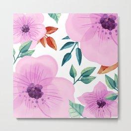 FLOWERS WATERCOLOR XXV Metal Print