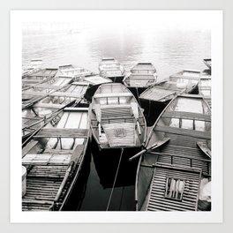 Boats in Vietnam Black and White Fine Art Print  • Travel Photography • Wall Art Art Print
