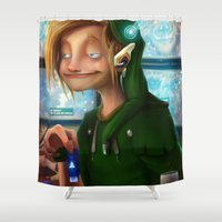 hyrule Shower Curtains featuring HYRULE CORP. by zero-scarecrow13