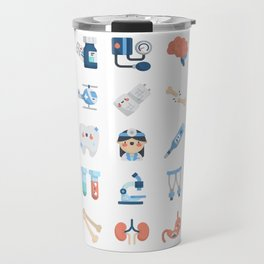 CUTE MEDICINE / SCIENCE / DOCTOR PATTERN Travel Mug