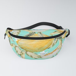 Melons with tropical flowers Fanny Pack