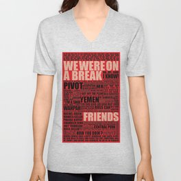 Friends (red) Unisex V-Neck