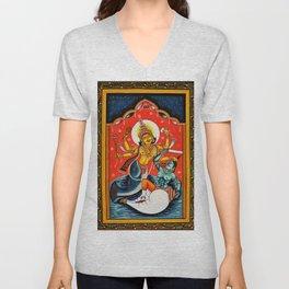 Hindu Durga 7 Unisex V-Neck