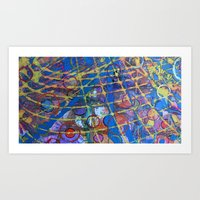 grid Art Prints featuring Grid by Heather Plewes Art