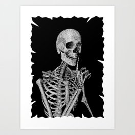 Silence please Art Print