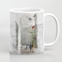 street art Mugs featuring Street by Baris erdem