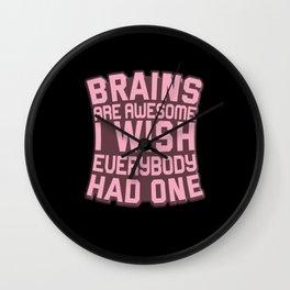 Brain Intelligence Wall Clock