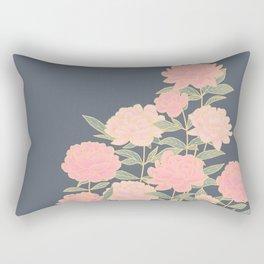 Pink peonies vintage pattern Rectangular Pillow