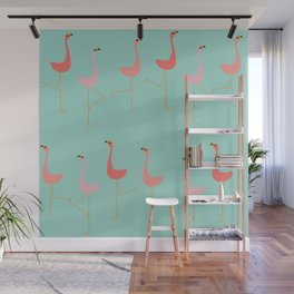 MARCH OF THE FLAMINGOS Wall Mural