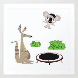 Bouncy Koala Art Print