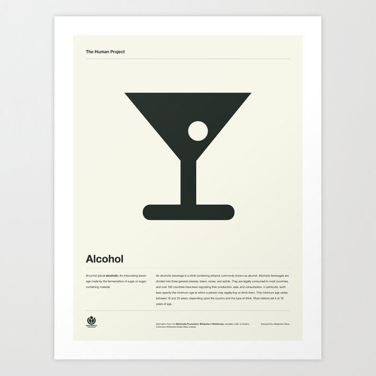 Alcohol Art Print