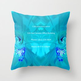 Collusion Insurance Cassidy Throw Pillow