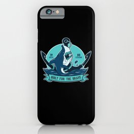 Shark With Anchor Motif iPhone Case