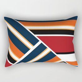 Retro . Combined stripes . Rectangular Pillow