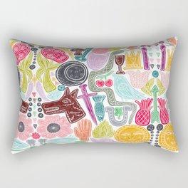 Fortune Icons Rectangular Pillow